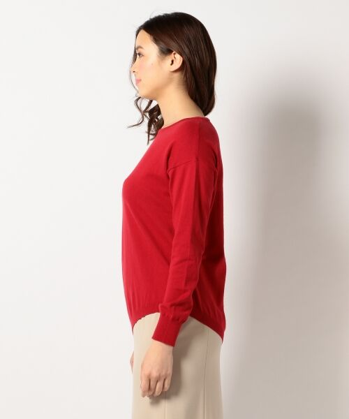 L size ONWARD(大きいサイズ) / エルサイズオンワード ニット・セーター | 【洗える】ソフトコットンカシミヤ アシメントリー ニット | 詳細3