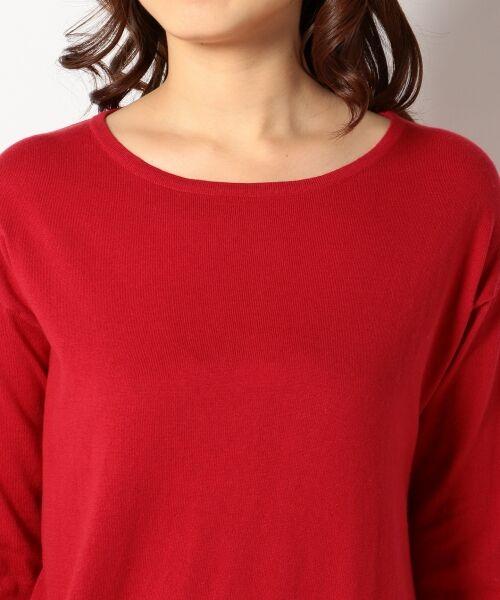 L size ONWARD(大きいサイズ) / エルサイズオンワード ニット・セーター | 【洗える】ソフトコットンカシミヤ アシメントリー ニット | 詳細5