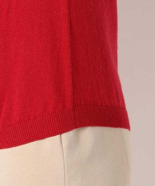 L size ONWARD(大きいサイズ) / エルサイズオンワード ニット・セーター | 【洗える】ソフトコットンカシミヤ アシメントリー ニット | 詳細7