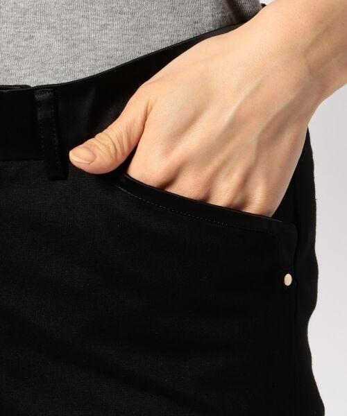 L size ONWARD(大きいサイズ) / エルサイズオンワード その他パンツ | 【44・46・48サイズ有り】スキニージャージー パンツ | 詳細5