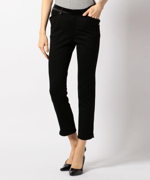 L size ONWARD(大きいサイズ) / エルサイズオンワード その他パンツ | 【44・46・48サイズ有り】スキニージャージー パンツ(ブラック系)