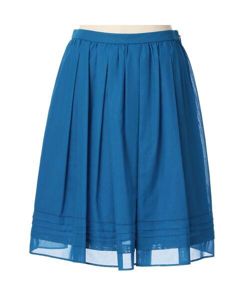 【ウォッシャブル】コットンボイルAラインスカート【送料無料】