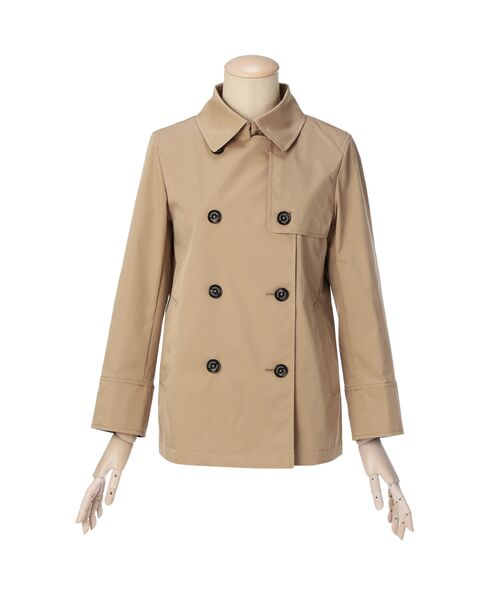 【花粉対策】【耐久はっ水】コンパクトショートトレンチジャケット