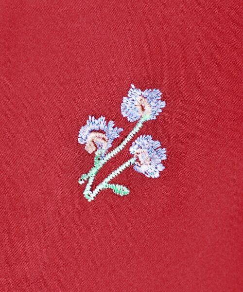 MAJESTIC LEGON / マジェスティックレゴン シャツ・ブラウス | ☆T小花刺繍スキッパーブラウス | 詳細6