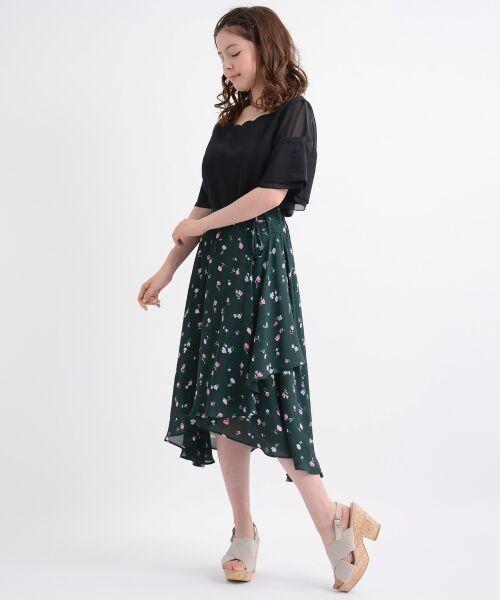 MAJESTIC LEGON / マジェスティックレゴン ミニ・ひざ丈スカート | カラフルフラワースカート | 詳細8
