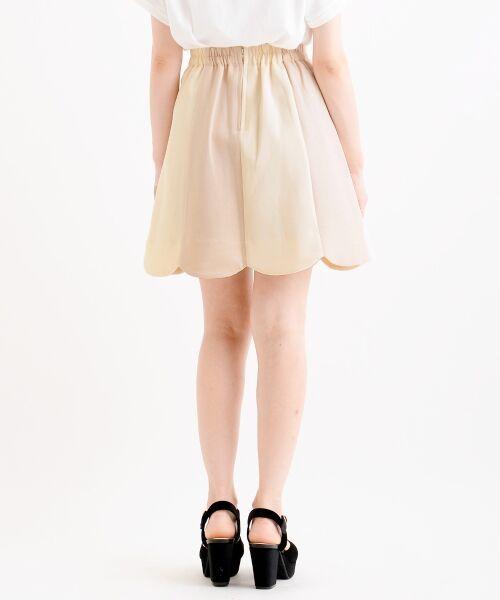 MAJESTIC LEGON / マジェスティックレゴン ミニ・ひざ丈スカート | スカラップバイカラースカート | 詳細25