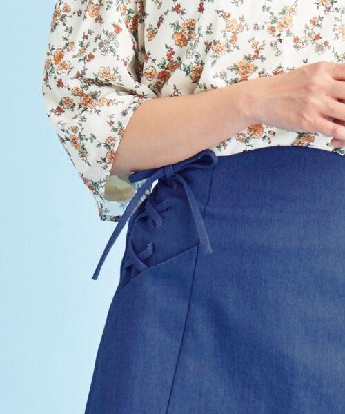 MAJESTIC LEGON / マジェスティックレゴン ミニ・ひざ丈スカート | サイド編み上げAラインスカート | 詳細2