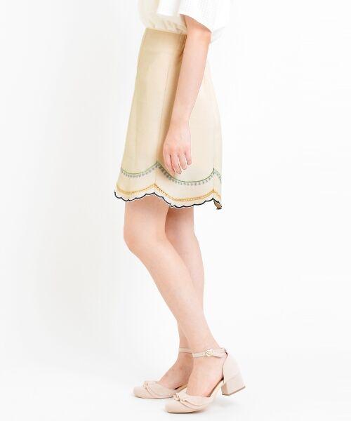 MAJESTIC LEGON / マジェスティックレゴン ミニ・ひざ丈スカート | ☆スカラップテープ使いスカート | 詳細8