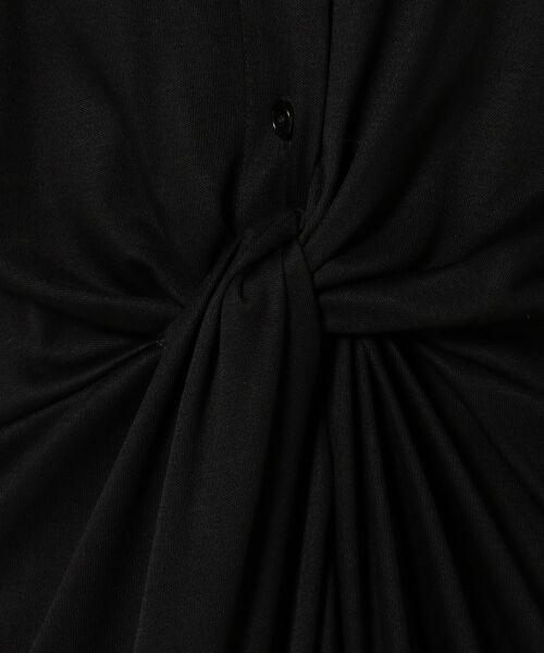 23区 / ニジュウサンク ミニ丈・ひざ丈ワンピース   【洗える!】ドレープドライジャージー シャツワンピース   詳細8