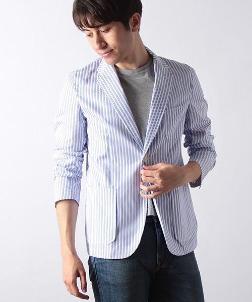 ストライプシャツジャケット【送料無料】