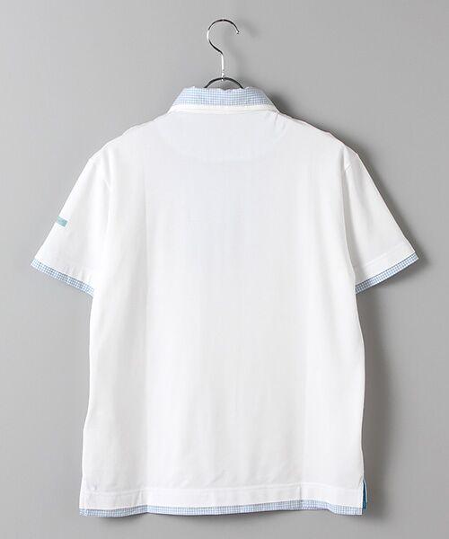 PINK HOUSE / ピンクハウス ポロシャツ | シマウマ刺繍入りギンガム衿ポロシャツ | 詳細2