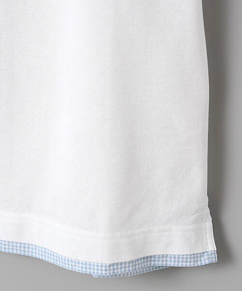 PINK HOUSE / ピンクハウス ポロシャツ | シマウマ刺繍入りギンガム衿ポロシャツ | 詳細4