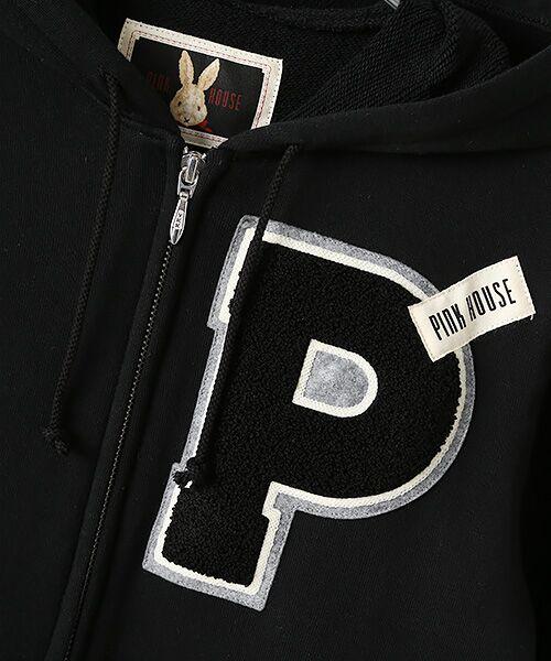 PINK HOUSE / ピンクハウス パーカー | Pサガラワッペン使いカットソーパーカー | 詳細1