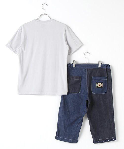 PINK HOUSE / ピンクハウス Tシャツ   セルビッチテープ使いTシャツ&パッチワーク使いハーフパンツセット   詳細1