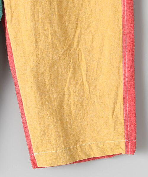 PINK HOUSE / ピンクハウス Tシャツ   セルビッチテープ使いTシャツ&パッチワーク使いハーフパンツセット   詳細7