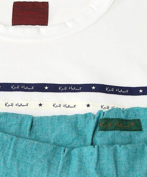 PINK HOUSE / ピンクハウス Tシャツ   セルビッチテープ使いTシャツ&パッチワーク使いハーフパンツセット   詳細9