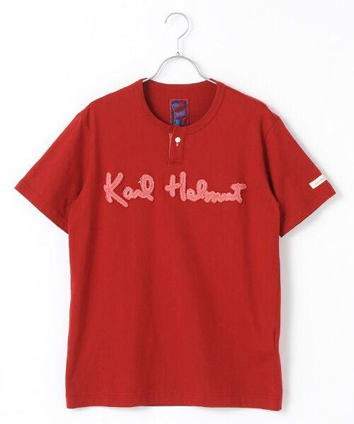 PINK HOUSE / ピンクハウス Tシャツ | ロゴサガラワッペンTシャツ(アカ)