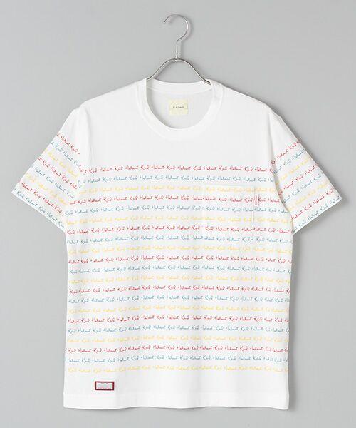 PINK HOUSE / ピンクハウス Tシャツ | キャンディーロゴプリントTシャツ(シロ)