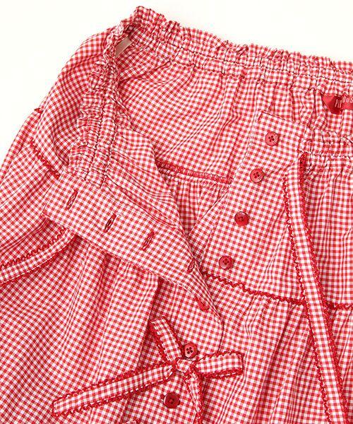 PINK HOUSE / ピンクハウス ロング・マキシ丈スカート | リボン使いギンガムチェックスカート | 詳細5