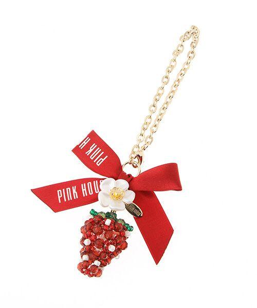 PINK HOUSE / ピンクハウス チャーム | ビーズモチーフチャーム(イチゴ)