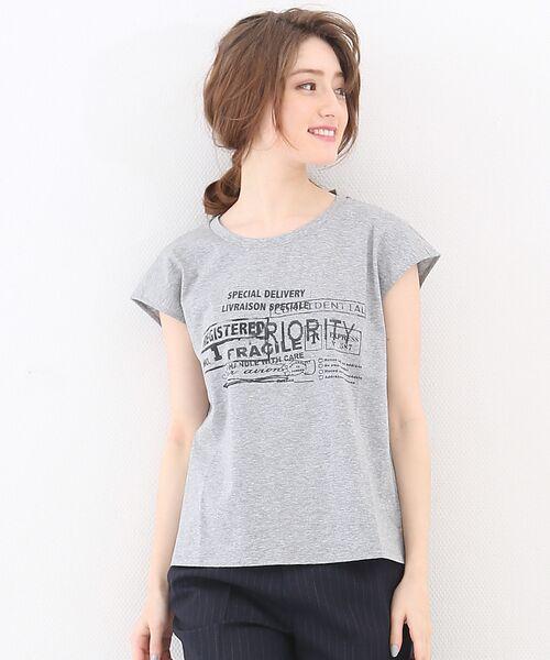 <タカシマヤ> 送料無料! スタンププリントTシャツ