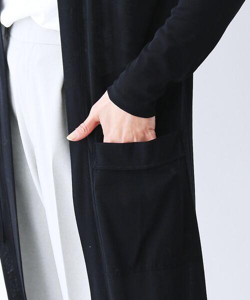 qualite / カリテ カーディガン・ボレロ | 【手洗い可能】クールフライスロングカーディガン | 詳細8