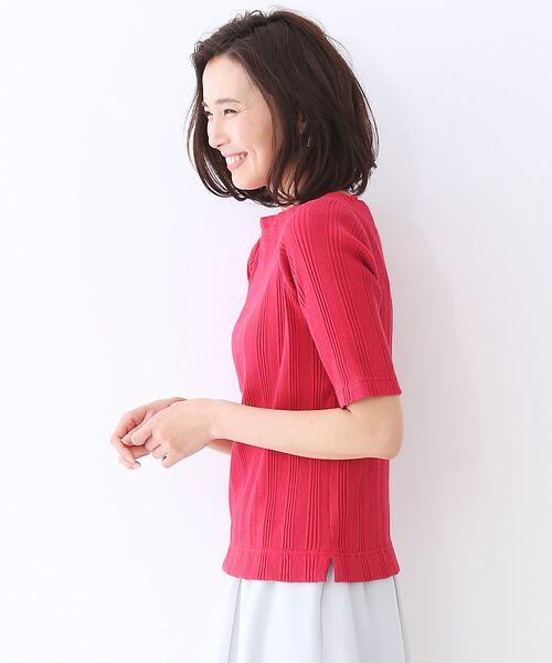 qualite / カリテ Tシャツ | ランダムテレコ5分袖プルオーバー | 詳細4
