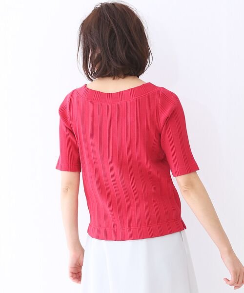 qualite / カリテ Tシャツ | ランダムテレコ5分袖プルオーバー | 詳細5