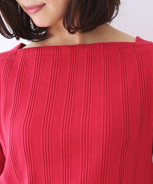 qualite / カリテ Tシャツ | ランダムテレコ5分袖プルオーバー | 詳細6