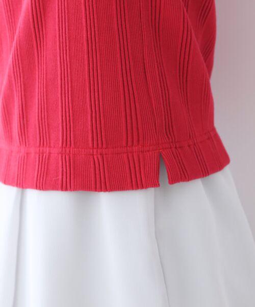 qualite / カリテ Tシャツ | ランダムテレコ5分袖プルオーバー | 詳細8