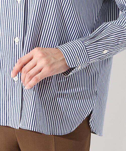 ROPE' / ロペ シャツ・ブラウス | カフス刺繍入りストライプシャツ | 詳細4