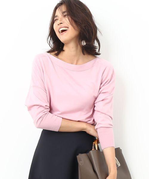 ROPE' / ロペ カットソー | 【Oggi10月号掲載】ロロピアーナニットワイドプルオーバー(ピンク)