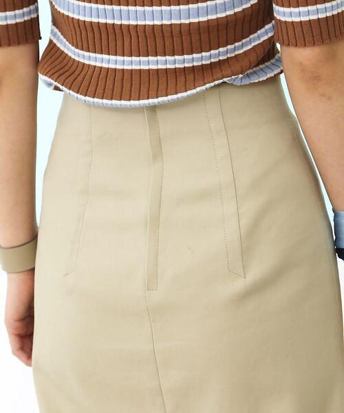 Rouge vif la cle / ルージュ・ヴィフ ラクレ ミニ・ひざ丈スカート | セミタイトスリットスカート | 詳細4