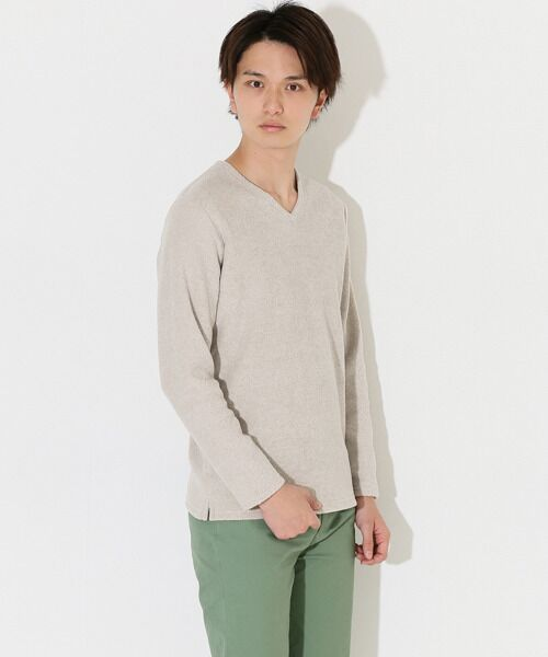 【B】ブークレVネックTシャツ【送料無料】