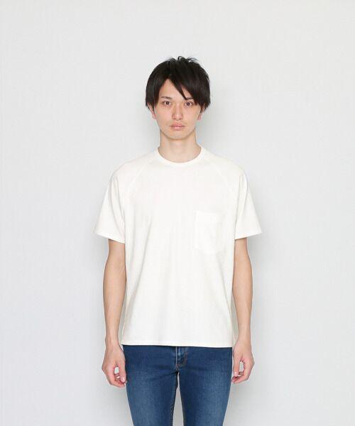 <タカシマヤ>送料無料!【A】ハイカウントリブポケットTシャツ(半袖)画像