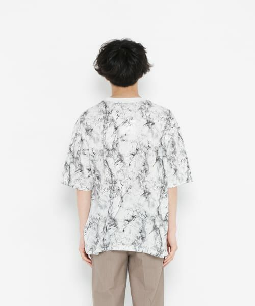 SENSE OF PLACE by URBAN RESEARCH / センスオブプレイス バイ アーバンリサーチ Tシャツ | マーブルビッグTシャツ(5分袖) | 詳細6