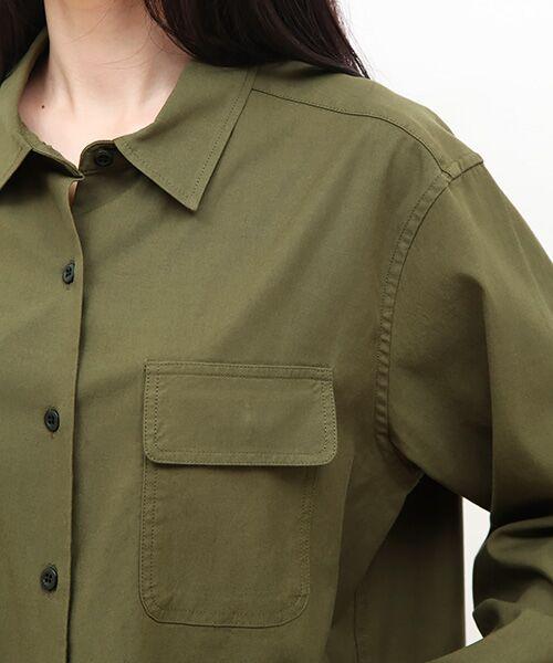 SHIPS for women / シップスウィメン シャツ・ブラウス | ミリタリーダブルポケットシャツ | 詳細3