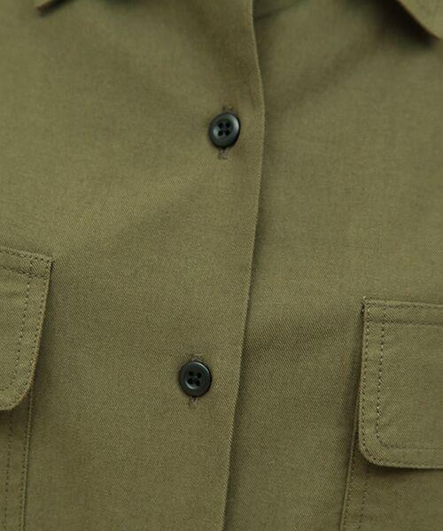 SHIPS for women / シップスウィメン シャツ・ブラウス | ミリタリーダブルポケットシャツ | 詳細5