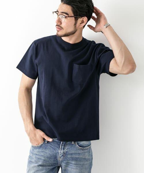Sonny Label / サニーレーベル Tシャツ | JEMORGAN×SonnyLabel 度詰め天竺ビッグTシャツ(ネイビー)