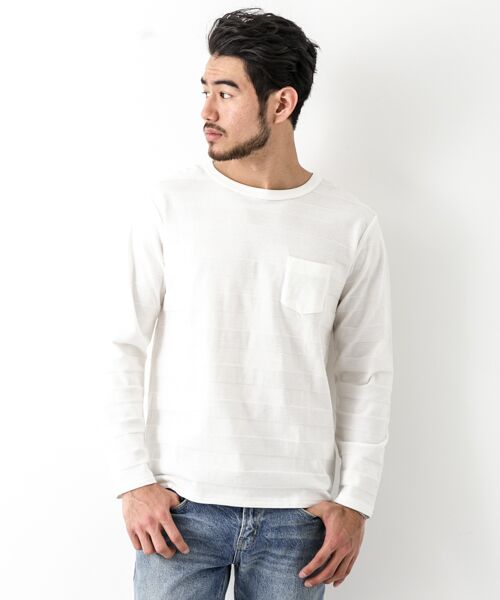 Sonny Label / サニーレーベル Tシャツ | シャドーボーダーロングTシャツ | 詳細12