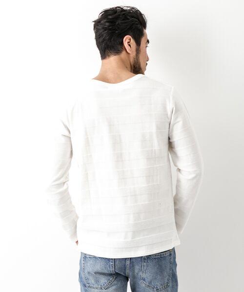 Sonny Label / サニーレーベル Tシャツ | シャドーボーダーロングTシャツ | 詳細14