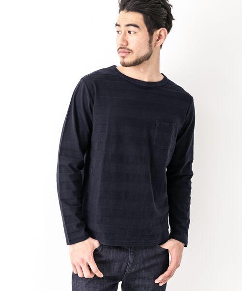 Sonny Label / サニーレーベル Tシャツ | シャドーボーダーロングTシャツ | 詳細5