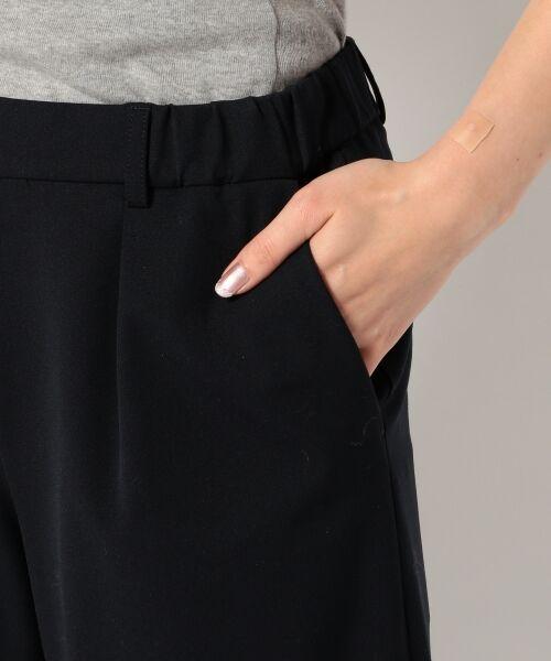 S size ONWARD(小さいサイズ) / エスサイズオンワード その他パンツ | 【肌に優しい・洗える】T/R 2wayアルガンオイル パンツ(ガウチョ) | 詳細5