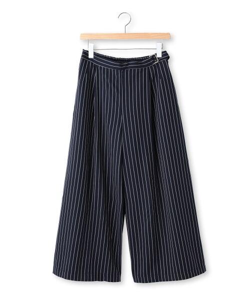 ストライプワイドパンツ【送料無料】