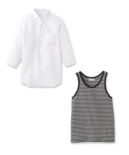 スラブシャツ+タンクトップセット【送料無料】