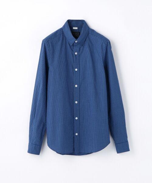 BLUE WORK グラフチェック ホックダウンシャツ [HOOK DOWN]