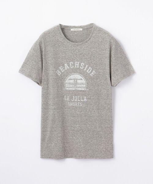送料無料! リヨセルジャージー プリントTシャツ(LA JOLLA SHORES)