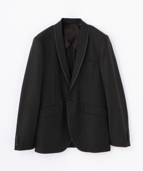 TOMORROWLAND / トゥモローランド テーラードジャケット | ストレッチウール ショールカラージャケット [SHAWL](ブラック)