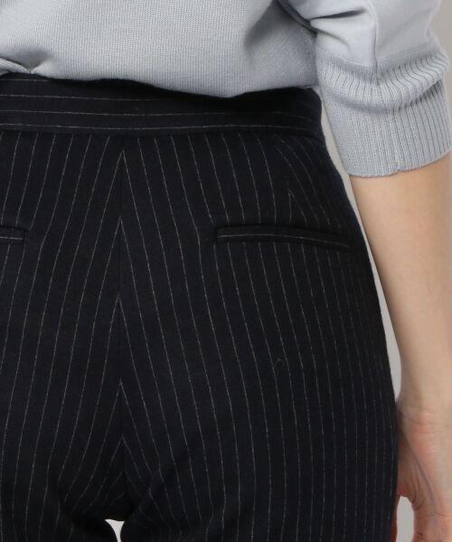 TOMORROWLAND / トゥモローランド スラックス・ドレスパンツ | ウールジャージーストライプ タックテーパードパンツ | 詳細5