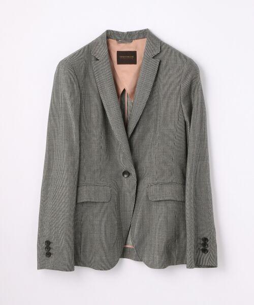 TOMORROWLAND / トゥモローランド テーラードジャケット | ウールレーヨンストライプ セミピークドジャケット(14 グレー系)